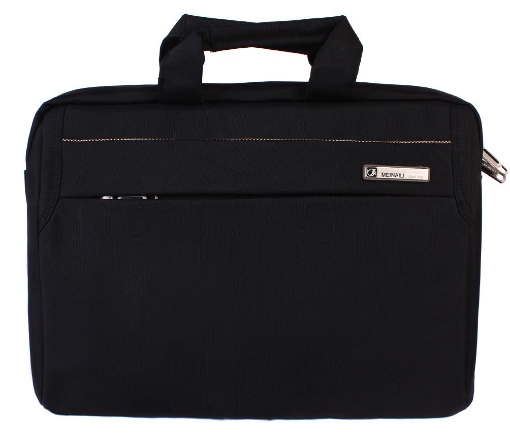 Качественная сумка для ноутбука среднего размера N30806 Черная