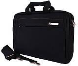 Качественная сумка для ноутбука среднего размера N30806 Черная, фото 3
