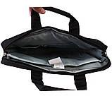 Качественная сумка для ноутбука среднего размера N30806 Черная, фото 5