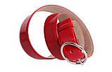 Женский кожаный ремень красного цвета, фото 3