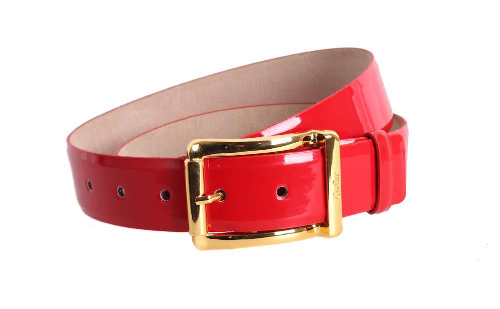 Шикарный кожаный ремень красного цвета