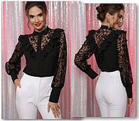 Женская черная блуза, фото 1