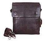 Качественная мужская сумка коричневого цвета, фото 2