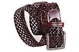 Кожаный плетеный ремень для брюк , фото 2