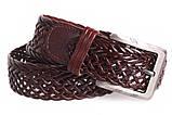Кожаный плетеный ремень для брюк , фото 3