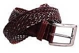 Кожаный плетеный ремень для брюк , фото 5
