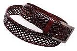 Кожаный плетеный ремень для брюк , фото 6