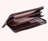 Винтажный клатч из кожи COFFEE001-4 Бордовый 87-118 см., фото 5