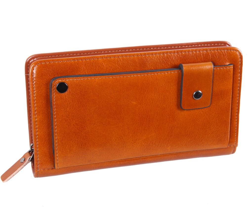 Дизайнерский клатч кожаный WHEAT003-5 Рыжий