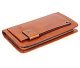 Дизайнерский клатч кожаный WHEAT003-5 Рыжий, фото 2