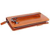 Дизайнерский клатч кожаный WHEAT003-5 Рыжий, фото 3