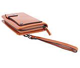 Дизайнерский клатч кожаный WHEAT003-5 Рыжий, фото 4