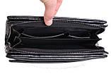 Кожаный клатч лаковый BLACK006-1 Черный, фото 5