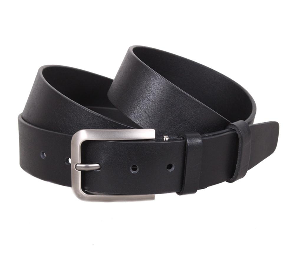 Мужской кожаный ремень Dovhani LT8702-25 115-125 см Черный