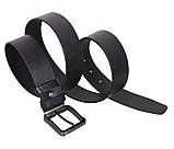 Мужской кожаный ремень Dovhani LT8702-27 115-125 см Черный, фото 3
