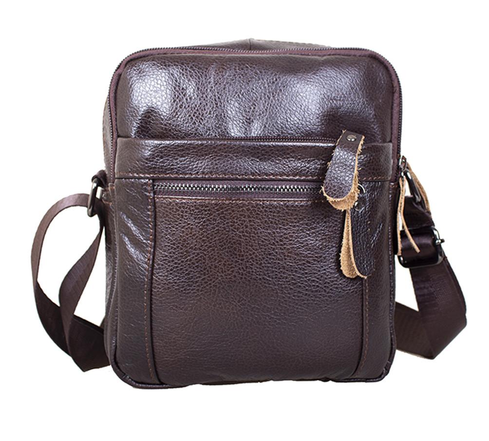 Мужская кожаная сумка Dovhani Dov-3922 Коричневая