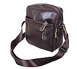 Мужская кожаная сумка Dovhani Dov-3922 Коричневая, фото 3