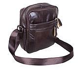Мужская кожаная сумка Dovhani Dov-3922 Коричневая, фото 4