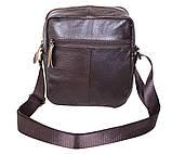 Мужская кожаная сумка Dovhani Dov-3922 Коричневая, фото 5