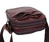 Мужская кожаная сумка Dovhani Dov-8143 Коричневая, фото 6