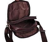 Мужская кожаная сумка Dovhani Dov-8143 Коричневая, фото 7