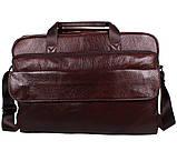 Сумка кожаная для ноутбука 17 дюймов Dovhani Dov8142 Коричневая, фото 2