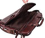 Сумка кожаная для ноутбука 17 дюймов Dovhani Dov8142 Коричневая, фото 8