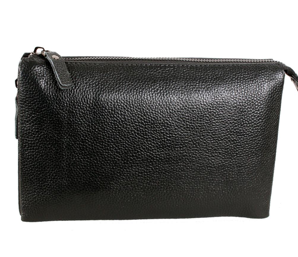 Классический кожаный клатч BLACK006-3 Черный