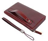 Дизайнерский кошелек на молнии COFFEE002-4 Бордовый, фото 3
