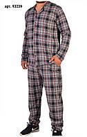 Пижама мужская в клетку на пуговицах - Батал