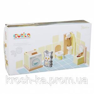 Деревянная игрушка Набор мебели 1 Levenya Cubika Украина 12633