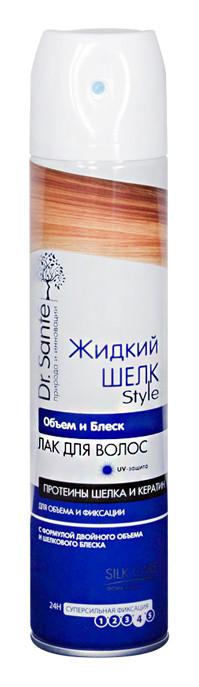 Лак для волос Dr.Sante Жидкий шелк Style Объем и блеск - 300 мл. - АВС Маркет в Мелитополе