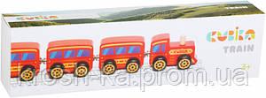 Деревянная игрушка Поезд на магнитах Levenya Cubika Украина 15375