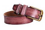 Современный кожаный ремень под джинсы , фото 3