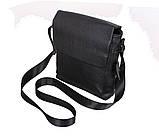 Мужская кожаная сумка Dovhani R006 Черная, фото 4