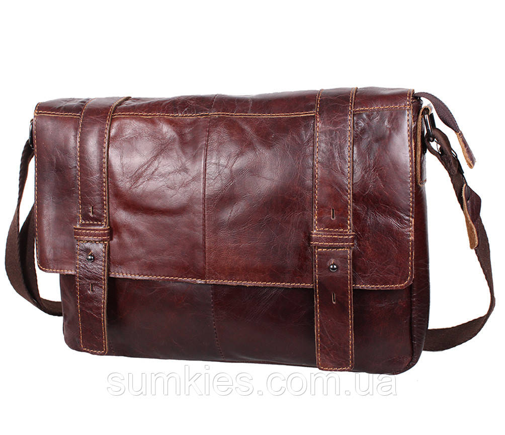 Мужская кожаная сумка A4 Dovhani PRE1862-1 Коричневая