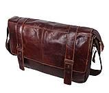 Мужская кожаная сумка A4 Dovhani PRE1862-1 Коричневая, фото 2