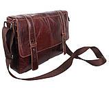 Мужская кожаная сумка A4 Dovhani PRE1862-1 Коричневая, фото 3