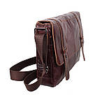 Мужская кожаная сумка A4 Dovhani PRE1862-1 Коричневая, фото 4