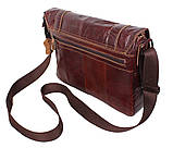 Мужская кожаная сумка A4 Dovhani PRE1862-1 Коричневая, фото 5
