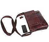 Мужская кожаная сумка A4 Dovhani PRE1862-1 Коричневая, фото 7