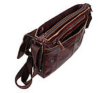 Мужская кожаная сумка A4 Dovhani PRE1862-1 Коричневая, фото 8