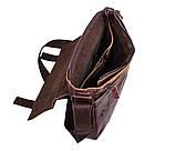 Мужская кожаная сумка A4 Dovhani PRE1862-1 Коричневая, фото 9