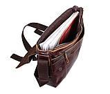 Мужская кожаная сумка A4 Dovhani PRE1862-1 Коричневая, фото 10