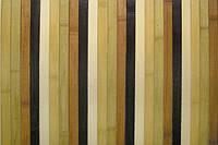 Обои из бамбука (полосатые цветные) ширина планки 17 высота 0,9м.