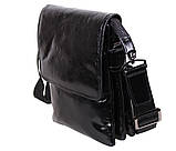 Мужская кожаная сумка DL008-4 черная, фото 2
