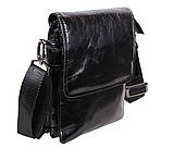 Мужская кожаная сумка DL008-4 черная, фото 3