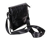 Мужская кожаная сумка DL008-4 черная, фото 4