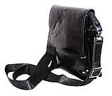 Мужская кожаная сумка DL008-4 черная, фото 5