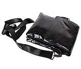 Мужская кожаная сумка DL008-4 черная, фото 9